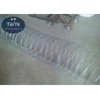 China High Security Galvanized Concertina Cross Razor Barbed Wire Fencing on sale