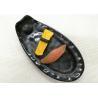 Buy cheap Length 25cm Weight 384g Porcelain Dinnerware Sets Boat-shape Black Melamine Plate from wholesalers
