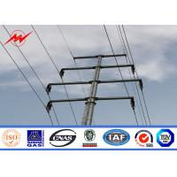 Quality 69kv - 115kv Galvanized Octagonal Electrical Power Pole With Bitumen Surface Treatment for sale