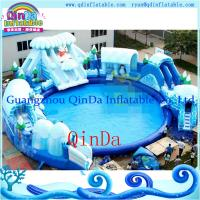 Wholesale Portable Inflatable Water Park With Big Pool And Slide For Sale from china suppliers