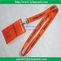 Wholesale Dengue Fighter Lanyard With Card Holder, Orange and Black Print, 20-inch from china suppliers