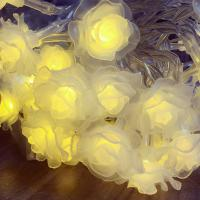 Wholesale RGBY fairy lights 20leds crystal rose battery operated string light from china suppliers