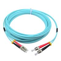 Wholesale ST/PC-LC/PC OM3 50/125 3.0mm aqua fiber optic jumper LSZH cable jacket from china suppliers