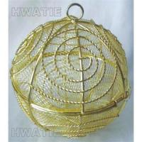 Buy cheap WIRE MESH BALL OPENABLE HALF TO HALF WITH A RING FOR HANGING, IN GOLD PLATED, CANDY CONTAINER from wholesalers