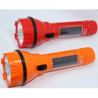 Quality 1 Watt Rechargeable Solar Flashlight 10M Visible Distance , Highest Lumen Led Flashlight for sale