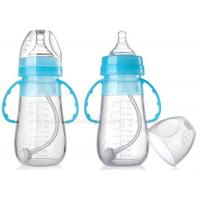 Wholesale BPA Free Silicone Baby Bottle for Infant Non - toxic Mlik Bottles With Handle from china suppliers