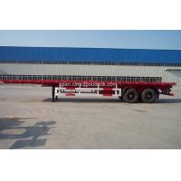 Wholesale 2-Axles Flatbed Container Semi-trailer-40ft from china suppliers