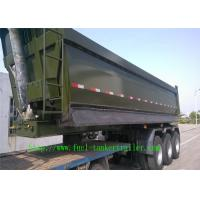 Wholesale Shengrun Q345 Steel dump semi trailer with tri-axle and  JOST brand support leg from china suppliers