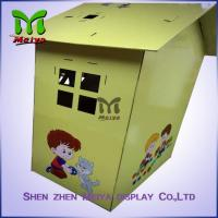 Wholesale Custom Painting Corrugated Cardboard Kids Toys Eco - friendly Paperboard Playhouse from china suppliers