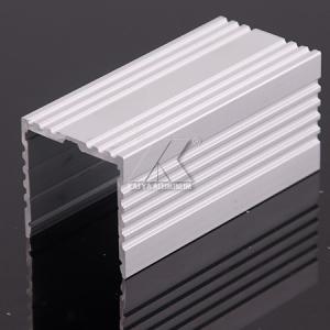 China Little Scratch Aluminum LED Strip Profiles Matt Finish Milky With Caps Profile on sale