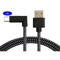 Quality 90 Degree Right Angled USB Cable 3.1 Type C Extension Wire / Pink / Red Black Color for sale