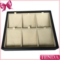 Quality Customized Wooden MDF Velvet Leatherette PU Leather Display Trays for Jewelry Jewellery for sale