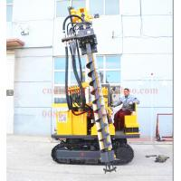 Quality 50M depth hydraulic photovoltaic pile hole drilling rig , Crawler mounted SOLAR pile hole drilling equipment for sale