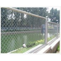 Wholesale Electro Galvanized Diammond Wire Mesh Chain Link Fence Mesh With Good Quality from china suppliers