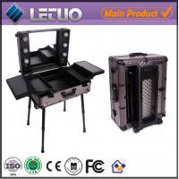 Wholesale professional makeup trolley case cosmetic case makeup case with lights from china suppliers
