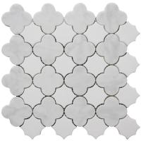 "Quality Carrara white flower shape mosaic tile 12x12"" for sale"