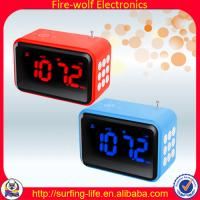 Rectangle Electronic Alarm Clock + Speaker + Radio smart gift for weeding  biggest gift manufacture&factory