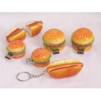 Wholesale Customizable PVC Hamburger shape Cartoon Usb 2.0 Drives 8GB, 4GB, 2GB from china suppliers