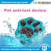 Wholesale cheap mini long distance gps tracker for dogs cats pets with smart rolling LED light from china suppliers
