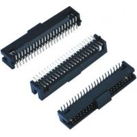 Wholesale Black Female Pin Headers  Double Low 60 Pins SMT With Cap  LCP Plastic from china suppliers