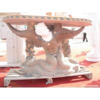 Quality Stone Carving Outdoor Garden Bench With Nude Lady Sculpture for sale