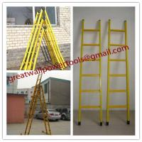 Wholesale FRP Square Tube A-Shape insulated ladders,Single step extension FRP ladder from china suppliers