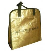 Buy cheap DAI - ICHI MADAM 90g brozen lamination black webbing handy non woven carry bag from wholesalers