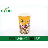 Wholesale 24-170oz Disposible Recycled Paper Popcorn Buckets With Customized Printing from china suppliers