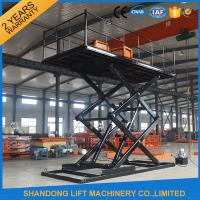 Wholesale Professional Garage Heavy Duty Hydraulic Scissor Car Lift Elevator 24 Months Warranty from china suppliers