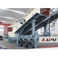 Wholesale Wheel Type Axle Complete Mobile Crushing And Screening Plant , Mobile Rock Crusher from china suppliers