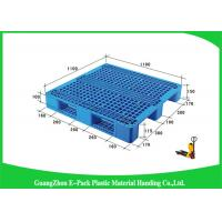 Wholesale Ventilated Plastic Skids Pallets Single Faced , Euro Blue Plastic Pallets Ventilated Deck from china suppliers