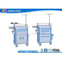 Wholesale Easy Clean ABS Emergency Trolley Hospital Linen Trolley With Drawer from china suppliers