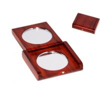 Wholesale Rosewood Square Case double sides mirror from china suppliers