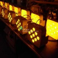 9pcs 10/15watt rgbwa 5in1 led battery wireless dmx par can