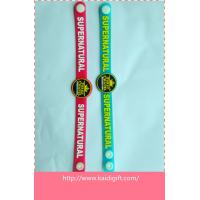 Wholesale custom shape soft PVC rubber wristband with button from china suppliers
