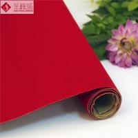 Wholesale Adhesive Glue Red Tricot Lining Fabric Velvet Flocked for Packaging Box Material from china suppliers