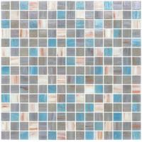 Wholesale Grey blue blend 20mm glass mosaic mix patter decoration from china suppliers