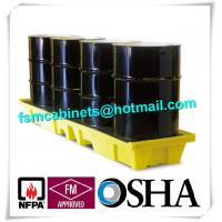 Wholesale HDPE Chemical Spill Containment Trays Leak Proof For 4 Oil Drum from china suppliers