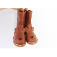 China Real Leather Kids Leather Boots on sale