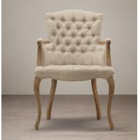 Wholesale Wooden Upholstered Fabric Dining Chair , Tufted high back dining room chairs  from china suppliers