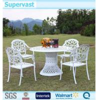 Wholesale White Aluminum Patio Furniture Aluminum Outdoor Dining Sets Outside Table And Chairs from china suppliers