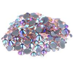 Wholesale Custom Size Stick On Rhinestones  , Round Shape Glass Crystal Rhinestones from china suppliers