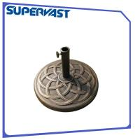 Buy cheap 9.5kg Imitation Bronze Pattern Garden Patio Resin Sun Umbrella Bases from wholesalers
