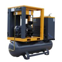 5.5KW 7HP 8 bar Silent Air Compressor Tank Mounted Screw Air Compressor With for sale
