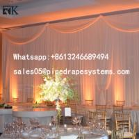 Quality aluminum pipe and drape wedding party trade show stage wall backdrop Curtain for sale for sale