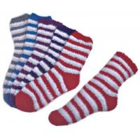 Wholesale Stripe pattern ,Aloe Infused SPA Socks polyester plush therapy spa sock from china suppliers