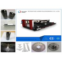 Wholesale Round Square Pipe Metal Laser Cutting Machine , Fiber Optic Laser Cutter Speed Adjustable from china suppliers