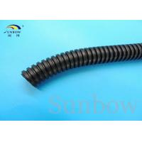 Wholesale Black PP Corrugated Tubing Slit Wall Corrugated Loom Tubing Black from china suppliers