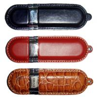 Wholesale promotional leather USB flash disk ​1GB 2GB 4GB 8GB 16GB 32GB  from china suppliers