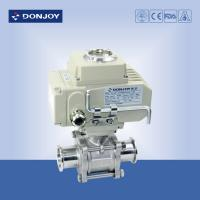 """Wholesale 3A 1"""" Electric  3pcs Non-retention full port ball valve with Clamped Connection from china suppliers"""